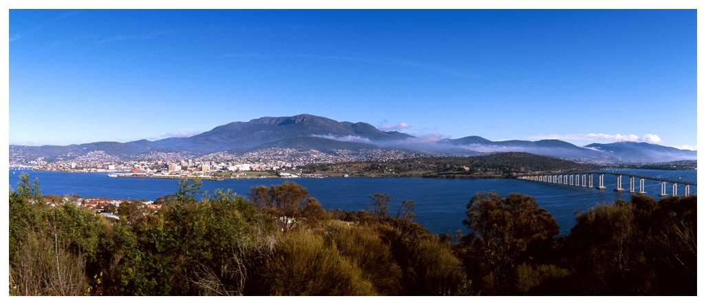 Hobart and Mount Wellington